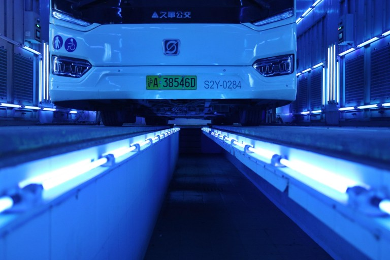Buses blasted with UV light to rid them of coronavirus | Metro News