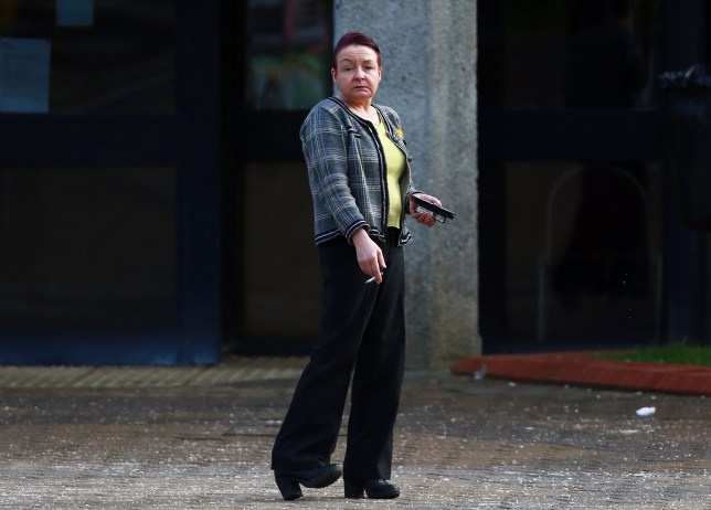 A mum crashed into a ditch after downing four pints and a bottle of white wine. Part-time barmaid Alison Weightman was driving to collect her 15-year-old daughter when she flipped over on the A186, in Shiremoor. Caption: Alison Weightman leaves North Tyneside Magistrates Court.