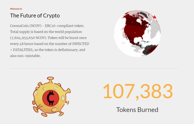 Sick new cryptocurrency lets you earn money when someone dies of the coronavirus