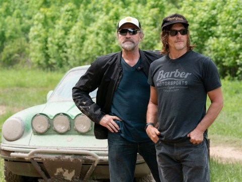 The Walking Dead's Norman Reedus emotionally reunites with on-screen brother Michael Rooker