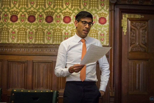 Handout photo issued by HM Treasury of Chancellor of the Exchequer Rishi Sunak practising his speech in his office in the Palace of Westminster ahead of presenting his first Budget. PA Photo. Picture date: Tuesday March 10, 2020. See PA story POLITICS Budget. Photo credit should read: HM Treasury/PA Wire NOTE TO EDITORS: This handout photo may only be used in for editorial reporting purposes for the contemporaneous illustration of events, things or the people in the image or facts mentioned in the caption. Reuse of the picture may require further permission from the copyright holder.