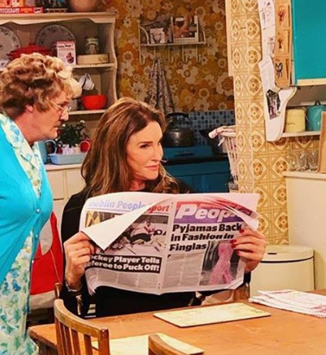 METROGRAB Caitlyn Jenner brags about her former sex life with 10 kids in outrageous Mrs Brown's Boys appearance @caitlynjenner