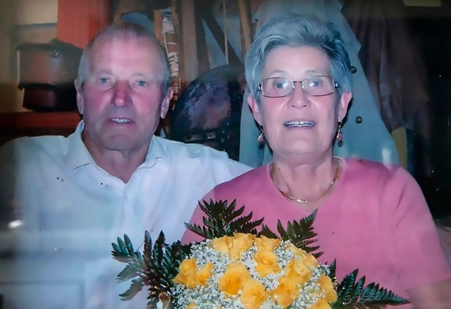 Pic Shows: The couple; This elderly couple who were married for more than 60 years have died a couple of hours apart after contracting coronavirus.