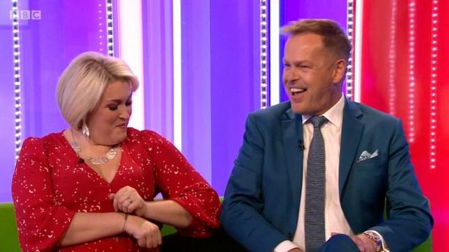 Dragons Den star Sara Davies asks co-star Peter Jones to move away on The One Show amid coronavirus outbreak