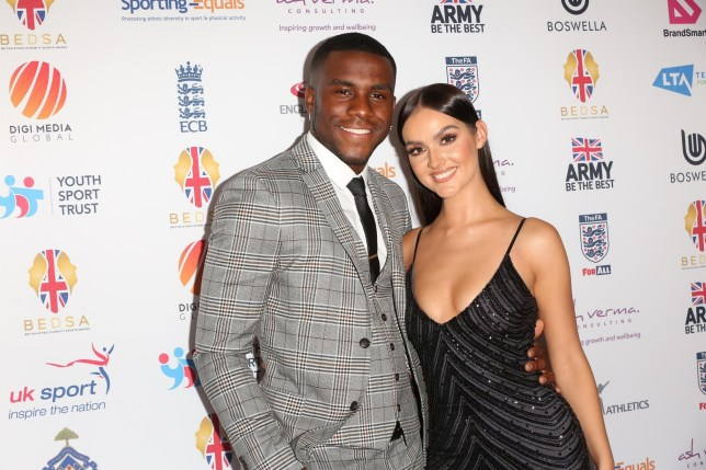 BGUK_1899663 - London, UNITED KINGDOM - Love Island runners-up Siannise Fudge and Luke Trotman attend British Ethnic Diversity Sports Awards at Hilton Hotel in London. Pictured: Siannise Fudge, Luke Trotman BACKGRID UK 14 MARCH 2020 BYLINE MUST READ: Ana M. Wiggins / BACKGRID UK: +44 208 344 2007 / uksales@backgrid.com USA: +1 310 798 9111 / usasales@backgrid.com *UK Clients - Pictures Containing Children Please Pixelate Face Prior To Publication*