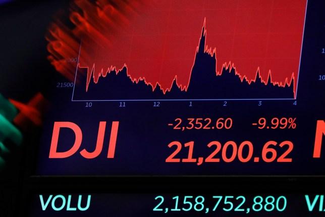 File photo of Dow Jones index