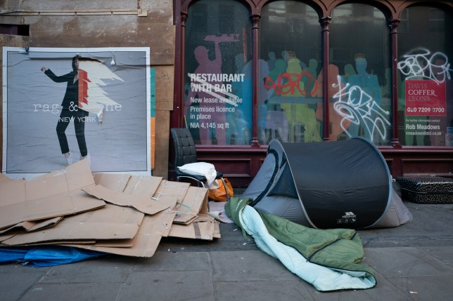 Scenes of homelessness in London. Photo date: Monday, March 16, 2020. Photo credit should read: Richard Gray/EMPICS