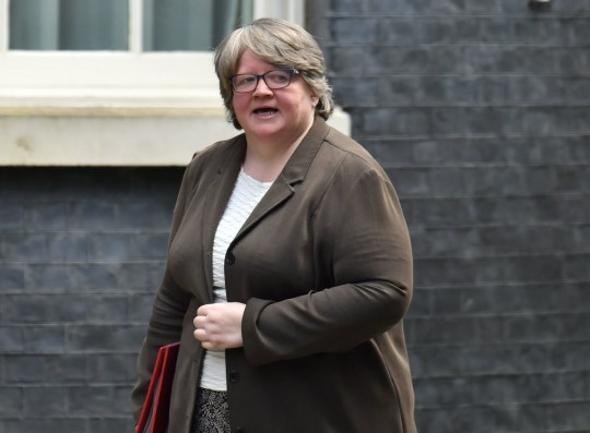 Work and Pensions Secretary Therese Coffey arriving in Downing Street, London, for a cabinet meeting the day after Prime Minister Boris Johnson called on people to stay away from pubs, clubs and theatres, work from home if possible and avoid all non-essential contacts and travel in order to reduce the impact of the coronavirus pandemic. PA Photo. Picture date: Tuesday March 17, 2020. See PA story HEALTH Coronavirus. Photo credit should read: Dominic Lipinski/PA Wire