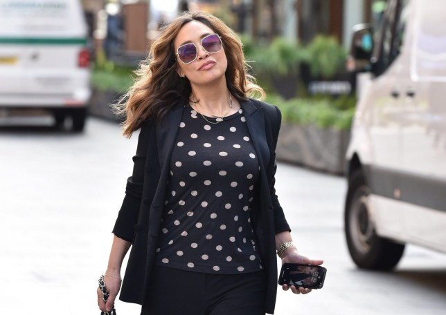 BGUK_1901026 - London, UNITED KINGDOM - Myleene Klass seen arriving at the Global Studios for her Smooth Radio show. Pictured: Myleene Klass BACKGRID UK 17 MARCH 2020 BYLINE MUST READ: RUSHEN / BACKGRID UK: +44 208 344 2007 / uksales@backgrid.com USA: +1 310 798 9111 / usasales@backgrid.com *UK Clients - Pictures Containing Children Please Pixelate Face Prior To Publication*