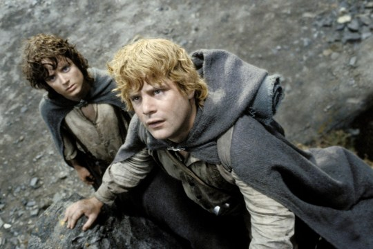 Frodo and Samewise in The Return Of The King
