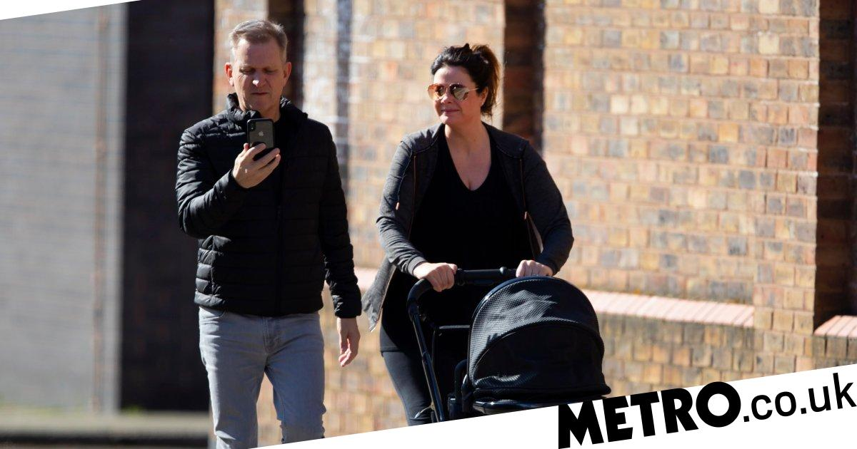 Jeremy Kyle takes a break from self-isolating to take a family stroll