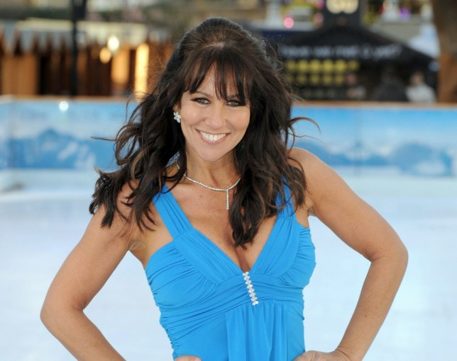 Linda Lusardi in practice ahead of Dancing On Ice, which airs on ITV, at the Natural History Museum, London.
