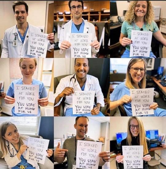 Doctors And Nurses Fighting Coronavirus Beg People To Stay
