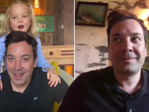 Jimmy Fallon has trouble recording from home as daughter interrupts Tonight Show Home Edition