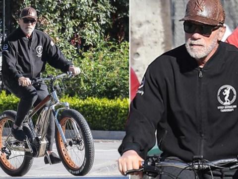Arnold Schwarzenegger and his buddy go on bike ride despite California coronavirus lockdown