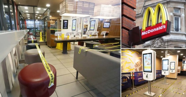 McDonalds closed coronavirus Pictures: Getty/PA