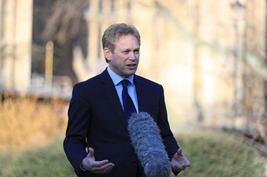 Transport Secretary Grant Shapps speaking to the media on College Green in Westminster, London. PA Photo. Picture date: Monday March 23, 2020. See PA story HEALTH Coronavirus. Photo credit should read: Aaron Chown/PA Wire