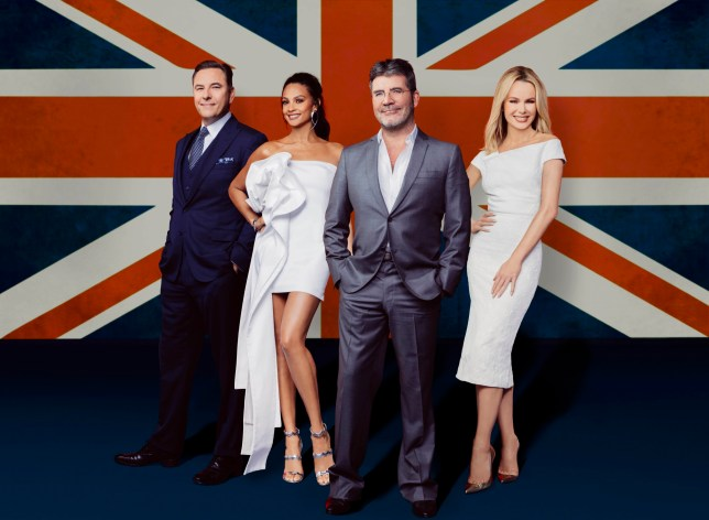 Television programme : Britain's Got Talent: SR11 on ITV Pictured: David Walliams, Alesha Dixon, Simon Cowell and Amanda Holden. This photograph is (C) Thames / Syco Entertainment and can only be reproduced for editorial purposes directly in connection with the programme or event mentioned above, or ITV plc. Once made available by ITV plc Picture Desk, this photograph can be reproduced once only up until the transmission [TX] date and no reproduction fee will be charged. Any subsequent usage may incur a fee. This photograph must not be manipulated [excluding basic cropping] in a manner which alters the visual appearance of the person photographed deemed detrimental or inappropriate by ITV plc Picture Desk. This photograph must not be syndicated to any other company, publication or website, or permanently archived, without the express written permission of ITV Plc Picture Desk. Full Terms and conditions are available on the website www.itvpictures.com For further information please contact: james.hilder@itv.com / 0207 157 3052