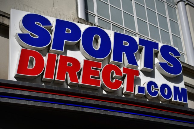 LONDON, ENGLAND - SEPTEMBER 07: The logo of a Sports Direct shop is pictured on September 7, 2016 in London, England. Sports Direct, the retailer facing criticism for the treatment of its staff, says it will put a workers' representative on its board as well as abolishing zero-hours contracts for its directly employed, casual retail staff. At their AGM today shareholders moved to unseat Chairman Keith Hellawell but he has the backing of majority shareholder and founder Mike Ashley. (Photo by Carl Court/Getty Images)