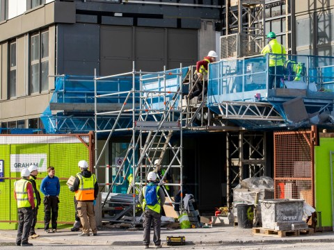 Construction workers can continue during lockdown as long as they stay two metres apart at all times