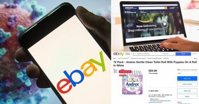 Ebay And Amazon Slammed For Not Doing Enough To Stop Coronavirus Vultures Metro News