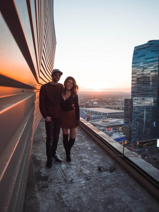Hannah and jason on a rooftop