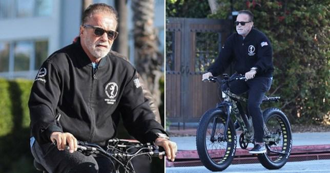 Arnold Schwarzenegger keeps up his exercise routine pics: Backgrid