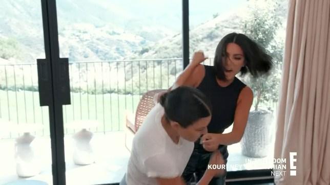 Kim Kardashian and Kourtney Kardashian's brawl