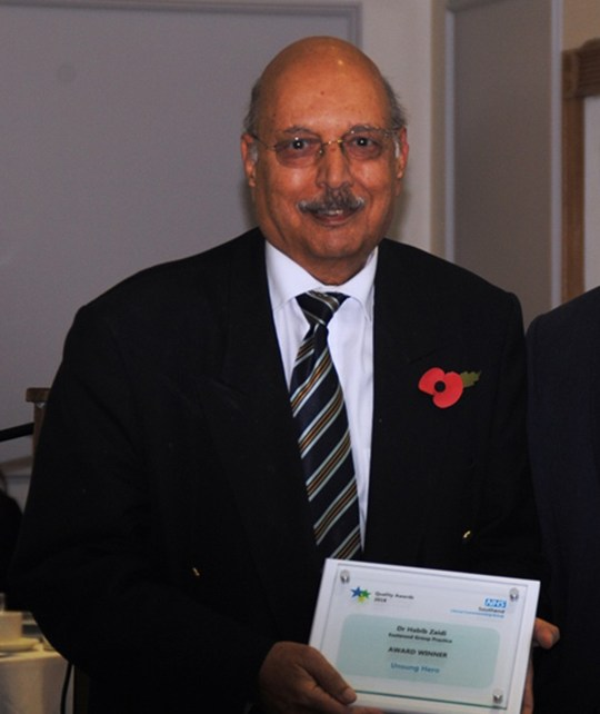 Habib Zaidi died in intensive care at Southend Hospital, Essex (Picture: NHS Southend CCG)