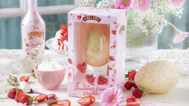Forget your troubles and indulge at Easter with Baileys' strawberries and cream egg