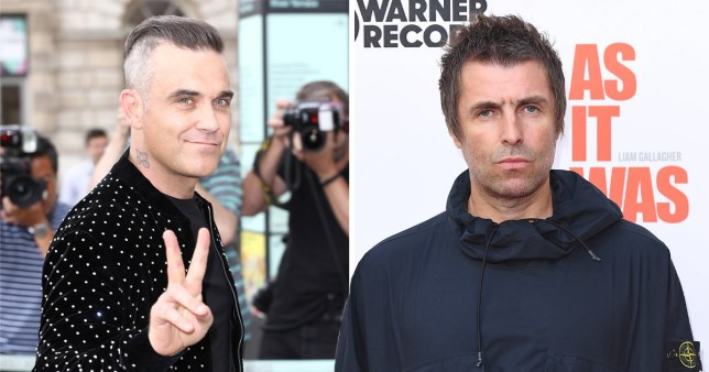 Robbie Williams spends quarantine reigniting his feud with Liam Gallagher Pics: Getty