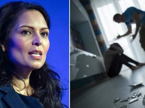 Domestic abuse victims trapped in quarantine 'not forgotten', Priti Patel says