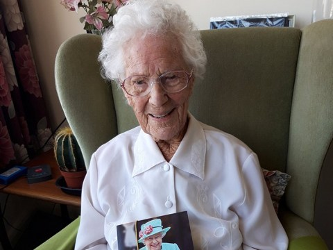 Pensioner celebrates 110th birthday in lockdown and says 'stay cheerful'