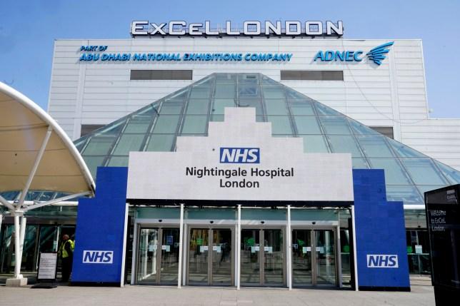 the new NHS Nightingale Hospital