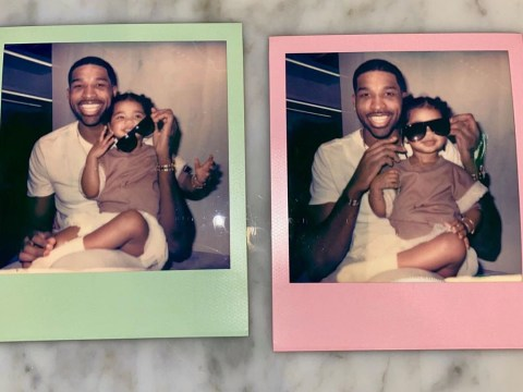 Khloe Kardashian's ex Tristan Thompson bonds with lookalike daughter True at home in quarantine