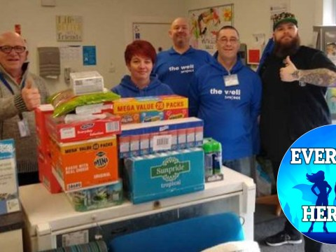 I've been stockpiling food… so I can donate it to food banks
