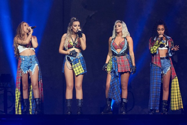 LITTLE MIX - Exclusive All Round, in the UK: web ?250 set fee or ?50pp. Print - premium rates apply please call your account manager for pricing. Mandatory Credit: Photo by REX (10415691aa) Exclusive - Jesy Nelson, Leigh-Anne Pinnock, Jade Thirlwall and Perrie Edwards Exclusive - Little Mix in concert, Madrid, Spain - 16 Sep 2019 'The LM5 Tour'