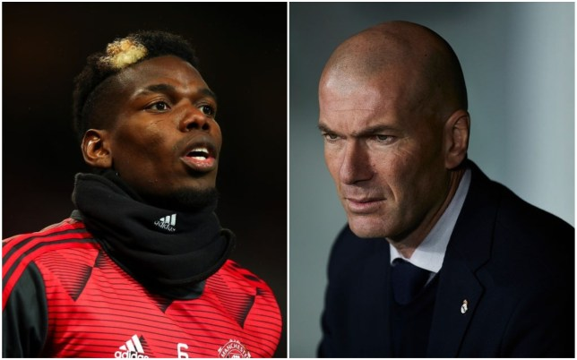 Real Madrid boss Zinedine Zidane has been unable to get Paul Pogba away from Manchester United