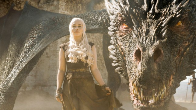 Emilia Clarke as Daenerys in Game of Thrones.