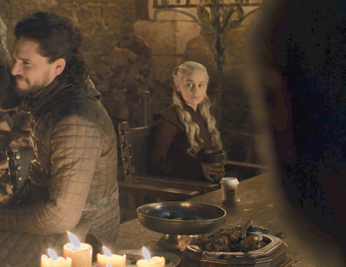 Starbucks Coffee Cup in Game of Thrones Scene Sparks Memes