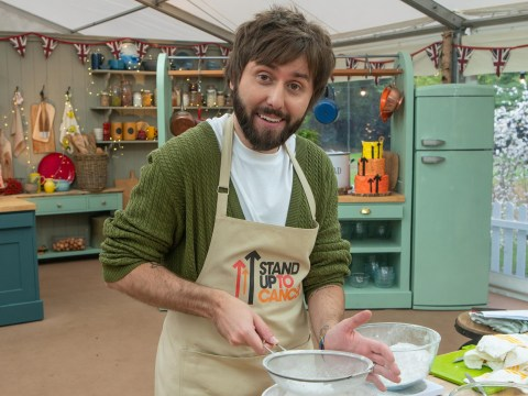 Who is on The Great Stand Up to Cancer Bake Off tonight?
