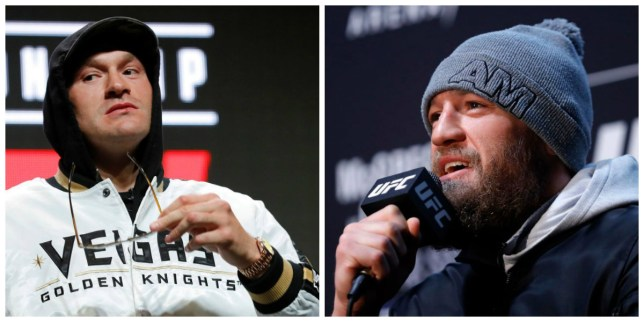Pictures of Tyson Fury and Conor McGregor side by side