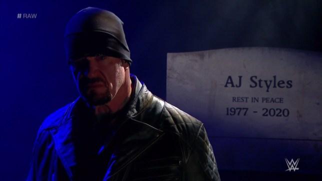 WWE legend The Undertaker on Monday Night Raw