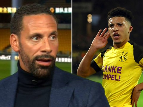 Rio Ferdinand reveals one issue with Jadon Sancho's £120m move to Manchester United