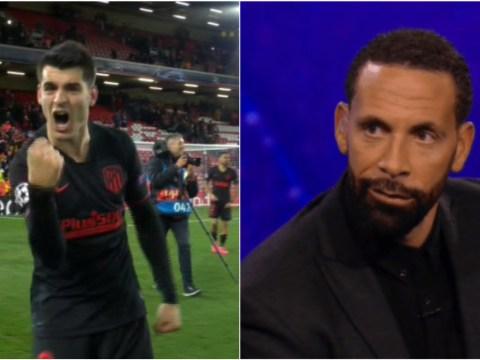 Rio Ferdinand trolls Chelsea flop Alvaro Morata after Liverpool's Champions League defeat to Atletico Madrid