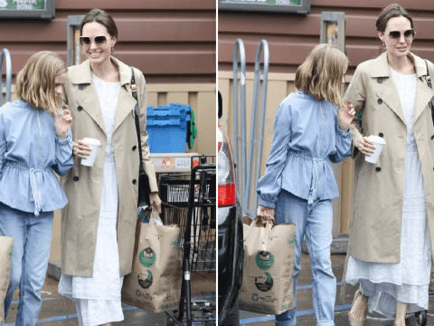 Angelina Jolie takes daughter Vivienne grocery shopping as Shiloh and Zahara recover from surgeries