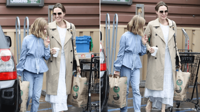 Angelina Jolie and daughter Vivienne shopping