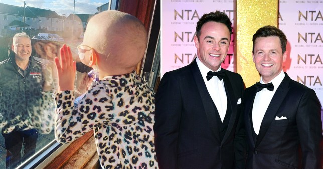 Ant and Dec supporting four-year-old Mila on ITV News