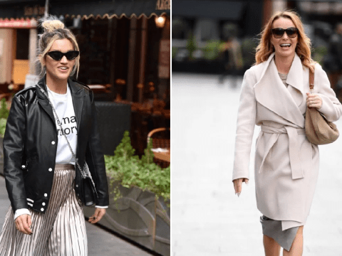 Ashley Roberts and Amanda Holden styling as they head to work despite coronavirus