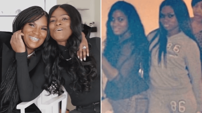Old and new photos of best friends Toya and Ashley